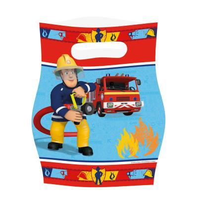 Feuerwehrmann Sam - Partytüten, 8 Stück