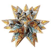 """Ursus Aurelio Stern Set Faltblätter 14,8 x 14,8 cm - """"Art"""" braun Transparentpapier"""
