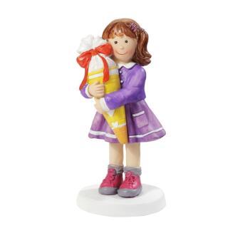 Einschulung - Mädchen mit Schultüte 8,5 cm