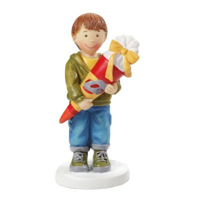 Einschulung - Junge mit Schultüte 8,5 cm