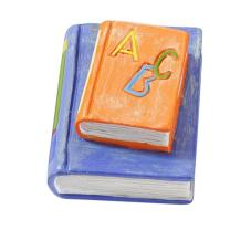 Einschulung - Bücher orange / blau 4 cm
