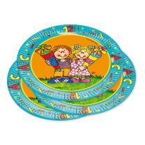 36 teiliges Party-Set Einschulung - Teller, Becher, Servietten für 8 Kinder