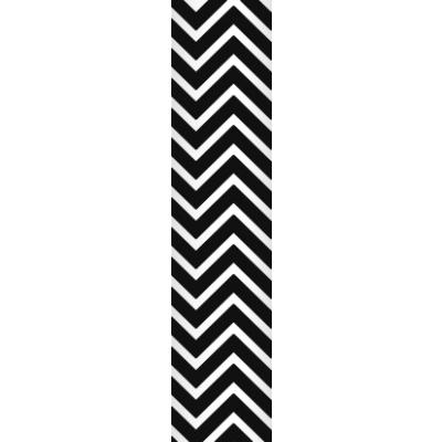 Ursus Papierstrohhalme Trinkhalme Chevron schwarz (21)