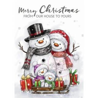 Wild Rose Studio CL496 Stempel clear stamp Snowman Family  -  Schneemann-Familie