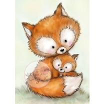Wild Rose Studio CL492 Stempel clear stamp Mummy Fox and...