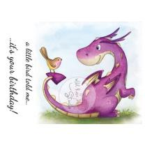 Wild Rose Studio CL488 Stempel clear stamp Dragon and...