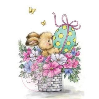 Wild Rose Studio CL486 Stempel clear stamp Easter Bunny - Osterhase