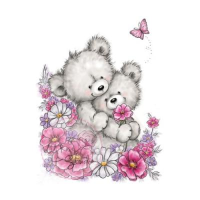 Wild Rose Studio CL485 Stempel clear stamp Bear Hugs - Bären