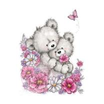 Wild Rose Studio CL485 Stempel clear stamp Bear Hugs -...