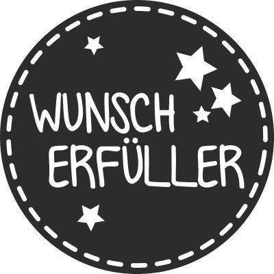 HEYDA  Stempel aus Holz, rund  - Wunscherfüller  (11)