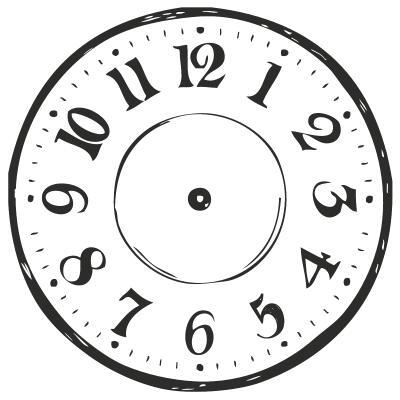 HEYDA  Stempel aus Holz, rund  - Clock  (22)