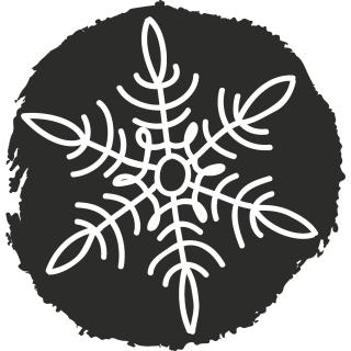 HEYDA  Stempel aus Holz, rund  - Ice Crystal 2 - Eiskristall  (27)