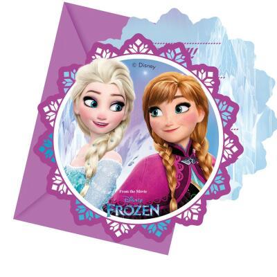 Frozen die Eiskönigin Nordlichter Einladungskarten, 6 Stück