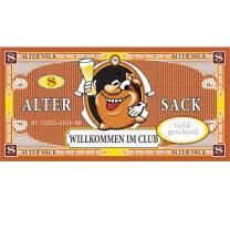 XXL - Gutschein - Kuvert - Willkommen im Club -  Alter Sack