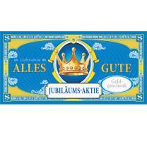 XXL - Gutschein - Kuvert - Jubiläums-Aktie