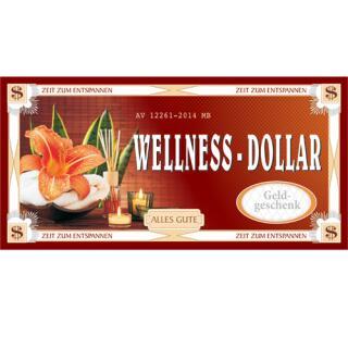XXL - Gutschein - Kuvert - Wellness-Dollar