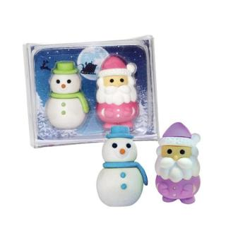 Radierer Santa und Olaf 2er Set
