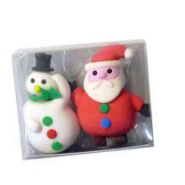 Radierer Weihnachten Schneemann und Weihnachtsmann