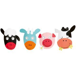 Farm Fun - Bauenhof - Masken - Tiermasken,  8 Stück