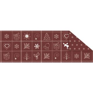 "Fotokarton  ""Country Christmas"" (01) rot, 300 g/m²,  49,5cm x 68cm"