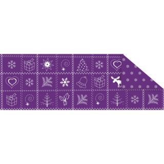 """Fotokarton  """"Country Christmas"""" (02) violett, 300 g/m²,  49,5cm x 68cm"""
