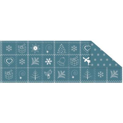 "Fotokarton  ""Country Christmas"" (03) petrol, 300 g/m²,  49,5cm x 68cm"