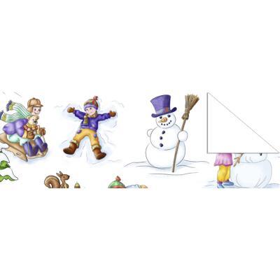 """Fotokarton  """"Winter Wonderland"""" (05) Schneemann, 300 g/m²,  49,5cm x 68cm"""