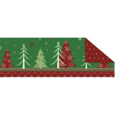 """Fotokarton  """"Winterzauber"""" (02) rot/grün, 300 g/m²,  49,5cm x 68cm"""