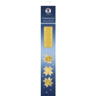 Ursus Faltstreifen Fröbelsterne (3477) gelb/gold 80 Streifen für 20 Sterne