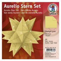 Ursus Aurelio Stern Set Faltblätter Starlight gold...