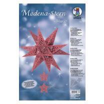 "Ursus Modena - Stern Set ""Stars"" rot weinrot..."