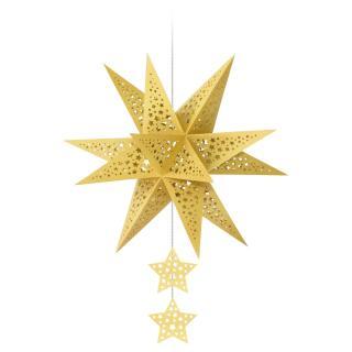 "Ursus Modena - Stern Set ""Stars"" gold 35,5 cm Metallic-Effekt (34660000)"