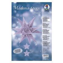 "Ursus Modena - Stern Set ""Stars"" lavendel 35,5 cm Metallic-Effekt (34670000)"