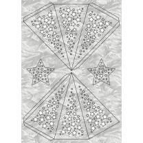 "Ursus Modena - Stern Set ""Stars"" silber 35,5 cm Metallic-Effekt (34650000)"