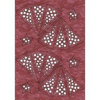 "Ursus Modena - Stern Set Mini ""Dots"" rot weinrot  25 cm (2 Sterne) Metallic-Effekt (34550000)"