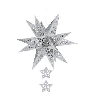 "Ursus Modena - Stern Set Mini ""Dots"" silber  25 cm (2 Sterne) Metallic-Effekt (34560000)"