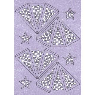 "Ursus Modena - Stern Set Mini ""Dots"" lavendel  25 cm (2 Sterne) Metallic-Effekt (34580000)"