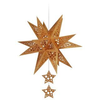 "Ursus Modena - Stern Set Mini ""Dots"" kupfer  25 cm (2 Sterne) Metallic-Effekt (34590000)"