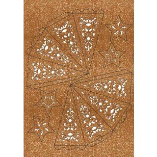 """Ursus Silhouetten - Stern Set """"Orient"""" kupfer  40 cm  Metallic-Effekt (33900000) Weihnachtsstern"""