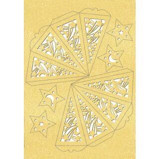 """Ursus Silhouetten - Stern Set """"Falling Star"""" gold  40 cm  Metallic-Effekt (33950000) Weihnachtsstern"""