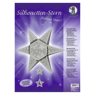 """Ursus Silhouetten - Stern Set """"Falling Star"""" silber  40 cm  Metallic-Effekt (33950000) Weihnachtsstern"""