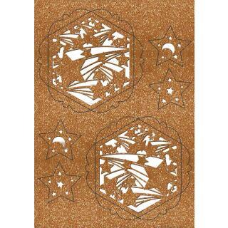 """Ursus Silhouetten - Stern Set """"Falling Star"""" kupfer  40 cm  Metallic-Effekt (33930000) Weihnachtsstern"""