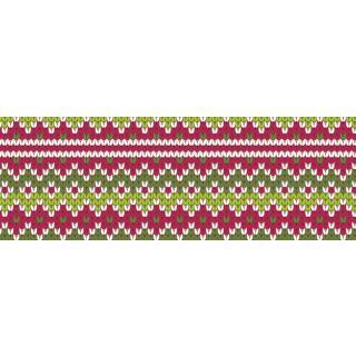 Motiv-Fotokarton Strickmuster rot-grün (71), 300 g/m²,  49,5cm x 68cm