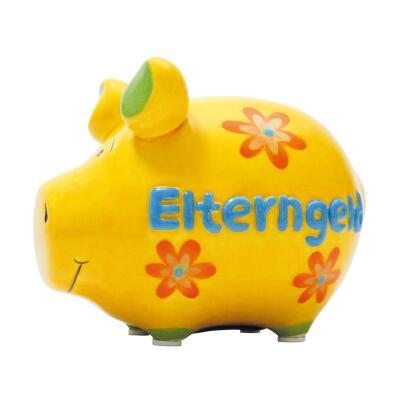 KCG Kleinschwein Keramik Sparschwein - Elterngeld -  ca. 12 cm x 9 cm