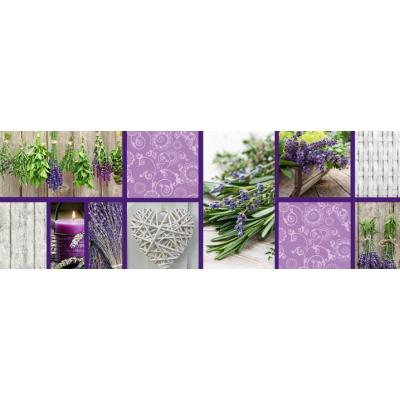 Motiv-Fotokarton Landhaus Lavendel (74), 300 g/m²,  49,5cm x 68cm