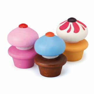 Erzi 13225 Cupcakes  3 Stück Kaufladenzubehör