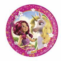 37-teiliges Party-Set Mia & Me Teller Becher Servietten Tischdecke für 8 Kinder