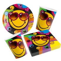 Smiley Express Youself - 36-teiliges Party-Set Teller...