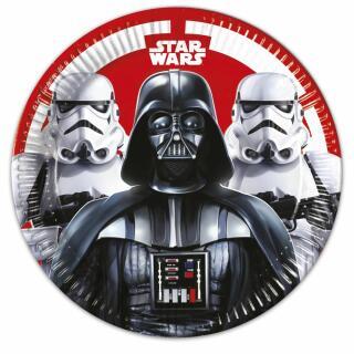 36-teiliges Party-Set Star Wars Final Battle - Teller Becher Servietten für 8 Kinder