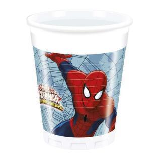 52-teiliges Party-Set Spiderman Web Warriors - Teller Becher Servietten für 16 Kinder